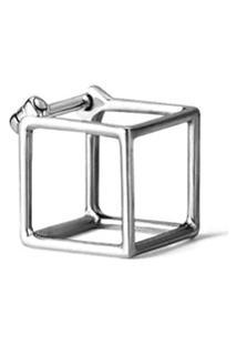 Shihara Par De Brincos 'Square 7' - Metálico