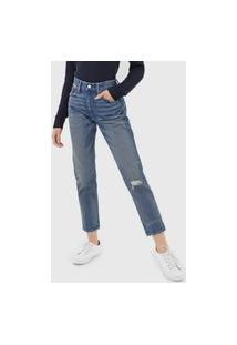 Calça Jeans Polo Ralph Lauren Slim Estonada Azul