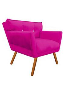 Poltrona Decorativa Anitta Suede Pink Com Strass - D'Rossi