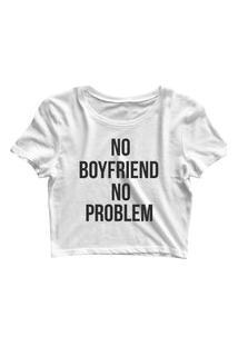 Blusa Blusinha Feminina Cropped Tshirt Camiseta No Boyfriend Branco