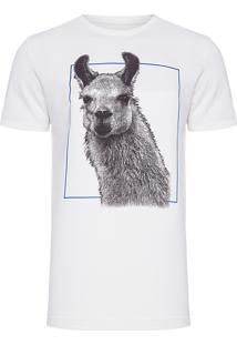 Camiseta Masculina Lhama - Off White