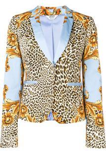 Liu Jo Blazer Com Estampa - Azul