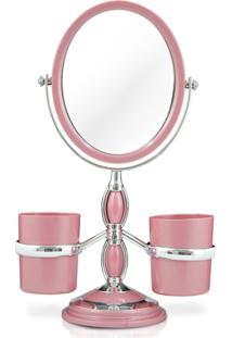 Espelho De Bancada Jacki Design Rosa