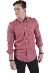 Camisa Social Horus Slim Xadrez Vermelha