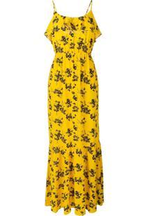 Michael Michael Kors Vestido Com Estampa Floral - Amarelo