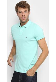Camisa Polo Tommy Hilfiger Slim Fit Clássica Masculina - Masculino
