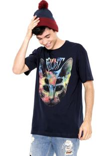 Camiseta Blunt Sphynx Tie Dye Azul-Marinho