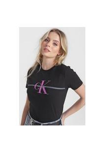 Camiseta Calvin Klein Jeans Logo Preta