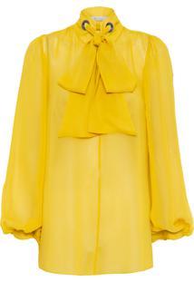 Camisa Feminina Ashia Lisa - Amarelo