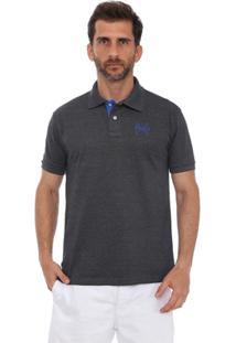 Camisa Polo England Polo Club Casual Taco - Masculino-Chumbo