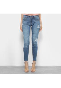 bde8319e0 R$ 269,99. Netshoes Calça Jeans Skinny Cintura Media Feminina Colcci Fátima  ...