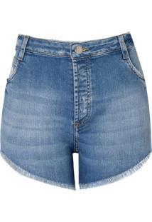 Shorts Jeans Vintage Vista Com Botao (Jeans Claro, 36)
