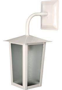 Arandela Em Alumínio Para 1 Lâmpada Colonial 36X15Cm Branca