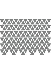Adesivo De Parede Triângulos Prata 121Un