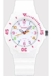 Relógio Infantil Skmei Analógico Feminino - Feminino-Branco