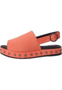 Sandália Nobuck Sapatos E Botas Tachas Coral - Kanui