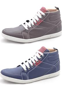 Sapatênis Dexshoes Kit Casual Multicolorido