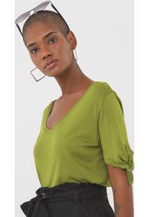 Blusa Cantão Amarração Verde
