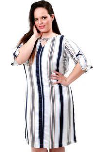 Vestido Vickttoria Vick Riviera Plus Size - Branco - Feminino - Dafiti