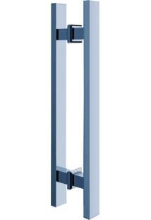 Puxador Duplo Para Porta Em Inox Polido Pr4140 Premium Ducon Metais Cromado