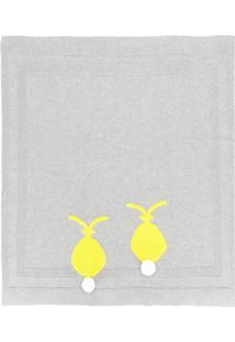 Stella Mccartney Kids Cobertor De Tricô - Cinza