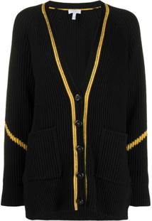 Escada Sport V-Neck Button Cardigan - Preto