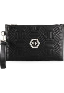 Philipp Plein Crystal Clutch - Preto
