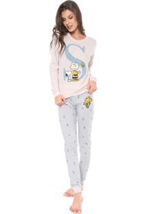 Pijama Hering Estampado Rosa/Azul