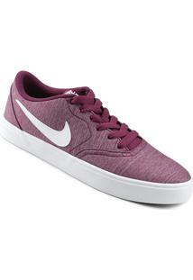 8c8f98dcc ... Tênis Nike Wmns Sb Check Solar Cvs P Feminino - Feminino-Vinho+Branco