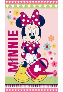 Toalha De Banho Disney Minnieâ® Flower- Rosa Claro & Rosasantista