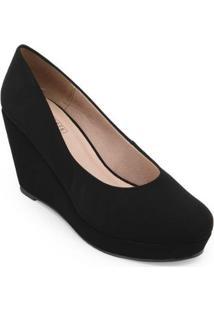 Sapato Anabela Sense Bella Feminino - Feminino-Preto