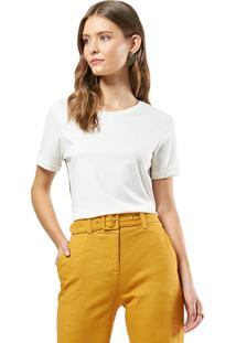 Blusa Mx Fashion Com Barra Italiana Cecília Off White