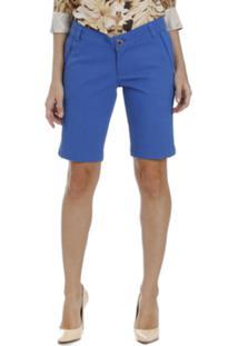 Bermuda Energia Fashion Moderna Azul