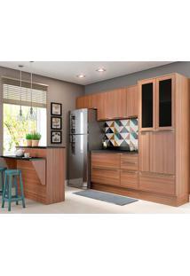 Cozinha Compacta Com Tampo 8 Peças 5463R Calábria - Multimóveis - Nogueira