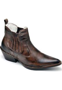 Bota Top Franca Shoes Country Masculino - Masculino-Café