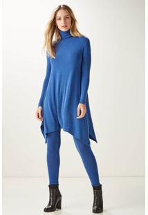 Meia Calça Color Azul - P