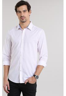 Camisa Comfort Estampada Off White