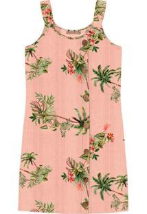 Vestido Curto Floral Rosa