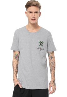 Camiseta Ed Hardy Black Rose Bleeding Cinza