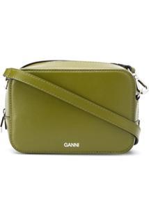 Ganni Bolsa Transversal Texturizada - Verde