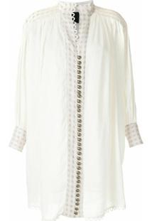 Andrea Bogosian Vestido Curto Saugor Couture - Branco