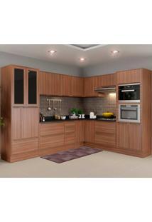 Cozinha 15 Peças Com Rodapé 5461Rmf Calábria - Multimóveis - Nogueira