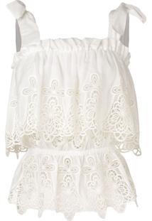 Dolce & Gabbana Blusa Com Bordado - Branco