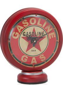 Enfeite Relógio Bomba Gasolina Fione Vermelho