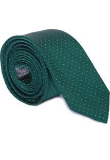 Gravata Mini Poá Textura - Verde