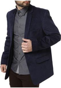 Blazer Masculino - Masculino-Azul