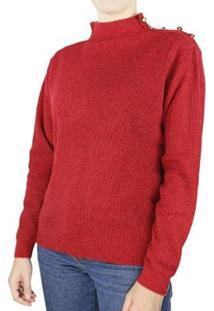 Blusa Malha Biamar Oversized Feminina - Feminino-Vermelho
