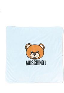 Moschino Kids Cobertor Com Ursinho - Cinza