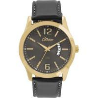Relógio Condor Masculino Casual Couro - Co2115Ksx 2C Co2115Ksx 2C -  Masculino-Preto f4e7b9a55e