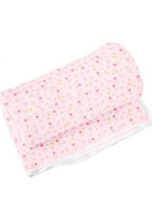 Cobertor Papi Floral Rosa